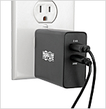 Use a USB charging adapter between the outlet and your phone