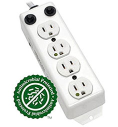 Antimicrobial Antiviral Power Strips for Hospitals
