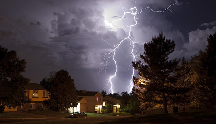 Lightning Strikes Home