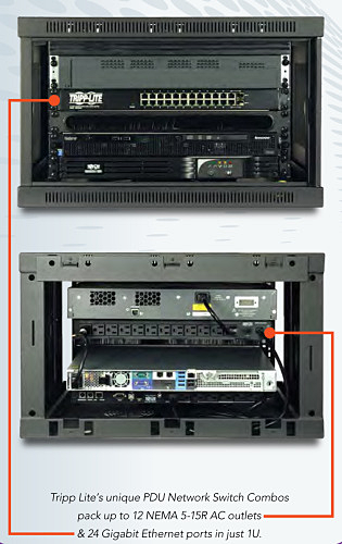 Maximize Wall-Mount Rack Space with PDU/Ethernet Switch Combos