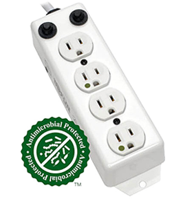 Antimicrobial Power Strips - Front View